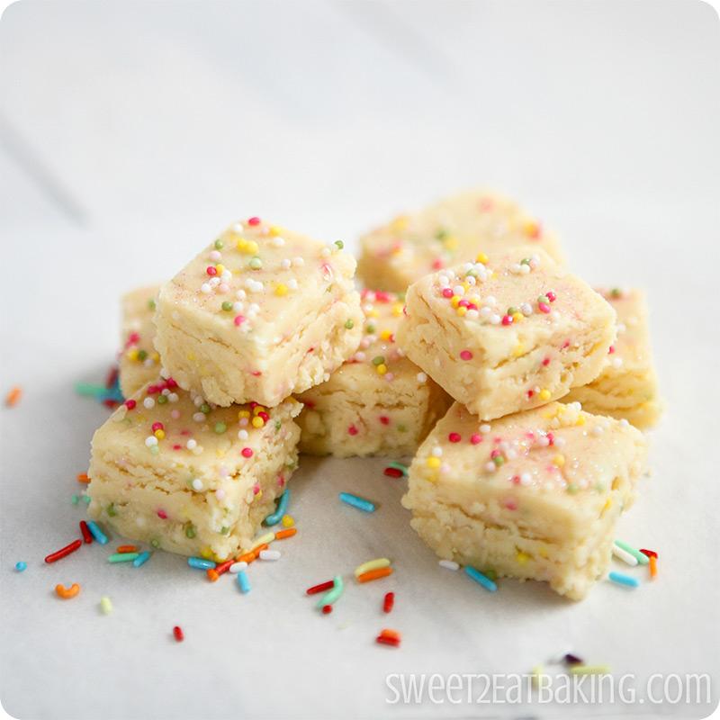 Funfetti Cake Batter Fudge