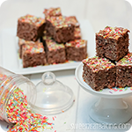 Chocolate Funfetti Cake Batter Rice Krispie Treats Thumbnail