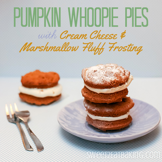 Pumpkin Whoopie Pies Cream Cheese Marshmallow Fluff Frosting