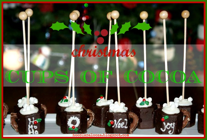 Mini Christmas Cups of Cocoa by Hoopla Palooza