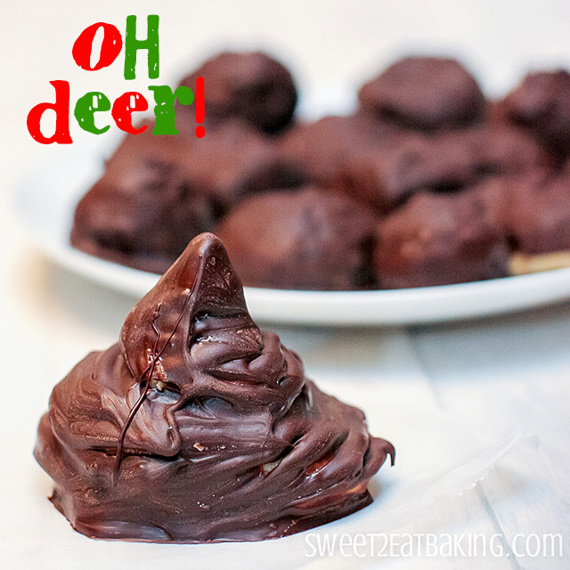 Reindeer Poop Peanut Butter Balls