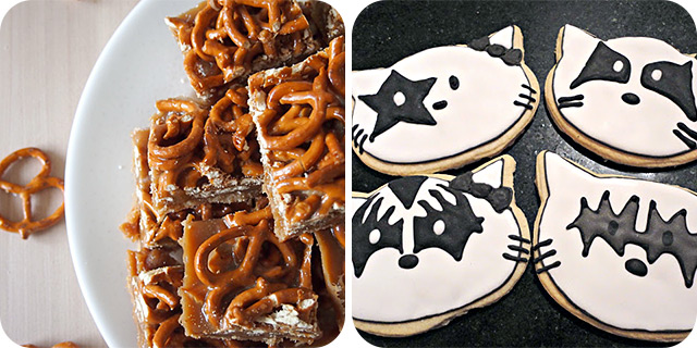 Caramel Pretzel Bars | Hello-Kissy Cat 'Kiss' Cookies