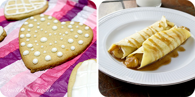 Lemon Shortbread Cookies | Nutella & Caramelized Banana Crepes