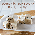 Chocolate Chip Cookie Dough Fudge