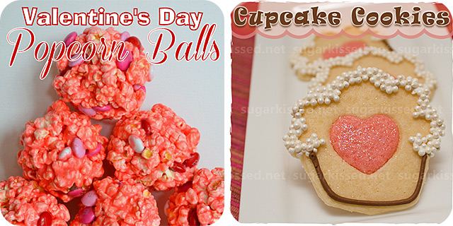 Valentine's Day Popcorn Balls | Cupcake Hearts with Heart Centers