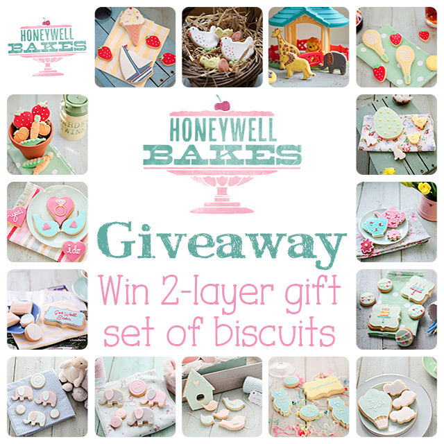 Honeywell Bakes Giveaway -  Stylish hand baked biscuit gifts and dessert tables. #giveaway #sugarcookies #royalicing