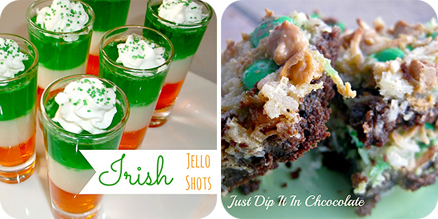 Irish Jello (Jelly) Shots | Leprechaun Coconut Squares