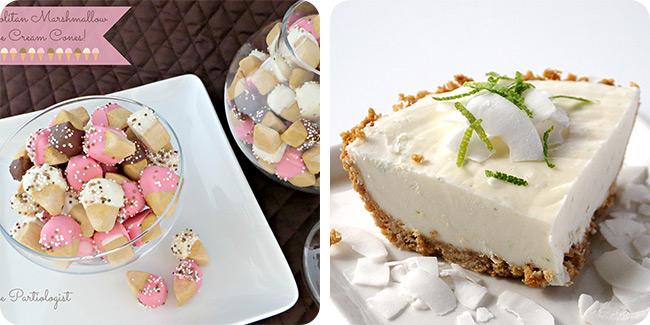 Neapolitan Marshmallow Ice Cream Cones | Coconut Lime Dessert