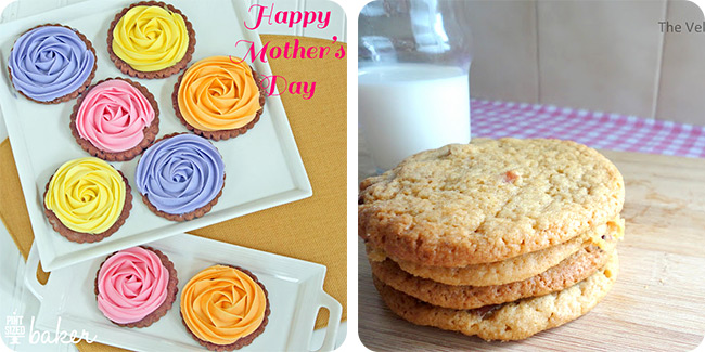 Mother's Day Shortbread Roses | Maple Bacon Cookies
