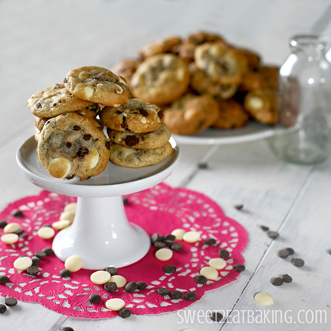 Strawberry, Roasted Hazelnut, Dark & White Chocolate Chip Cookies