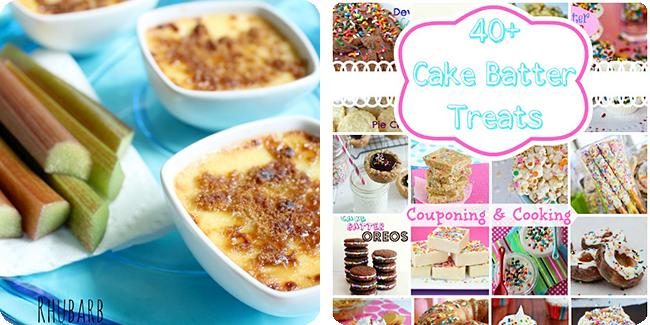 Rhubarb Creme Brûlée | 40+ Cake Batter Desserts