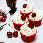 Cherry Coca Cola (Coke) Cupcakes Recipe