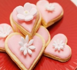 Heart-shaped Almond Biscuits