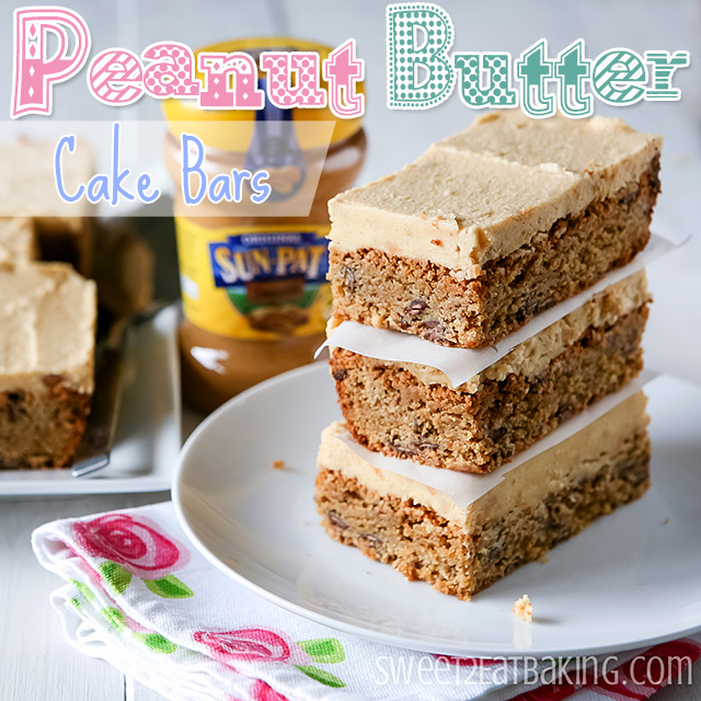 Frosted Peanut Butter Cake Bars