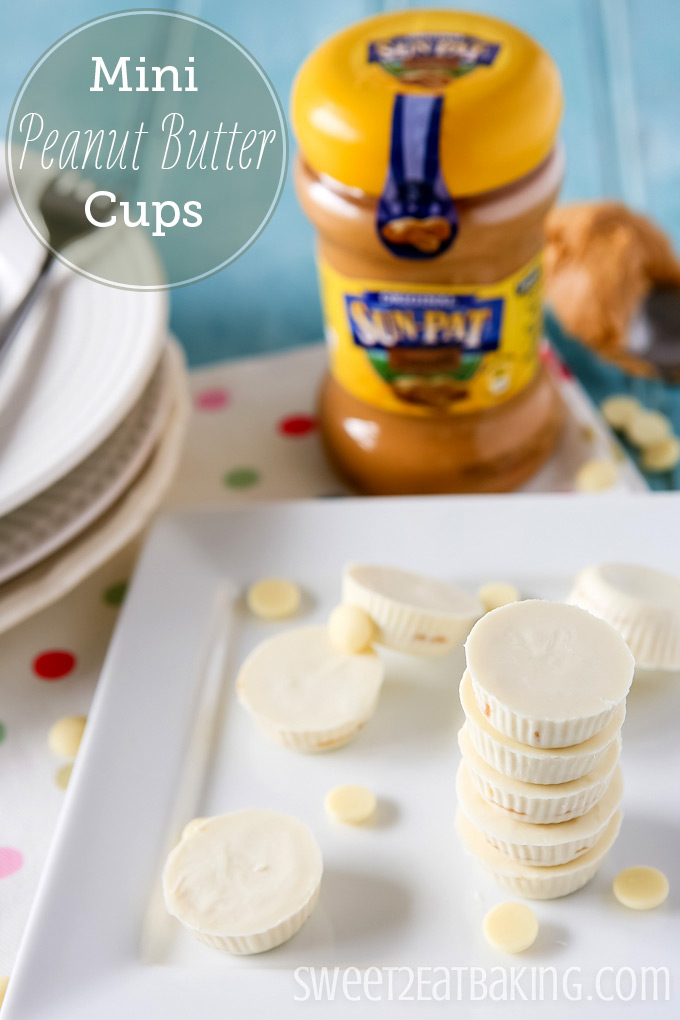 Mini White Chocolate Peanut Butter Cups | Sweet 2 Eat Baking # ...