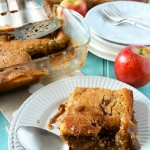 Toffee Apple / Caramel Apple Pudding Recipe by Sweet2EatBaking.com | #toffee #apple #caramel #pudding #fall